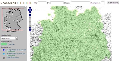yourfone / E-Plus Verfügbarkeit - yourfone Netzabdeckung in Deutschland