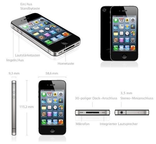 Apple iPhone 4S (weiß / schwarz) bei yourfone mit / ohne Vertrag