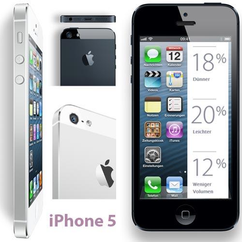 Apple iPhone 5 (weiß / schwarz) bei yourfone mit / ohne Vertrag