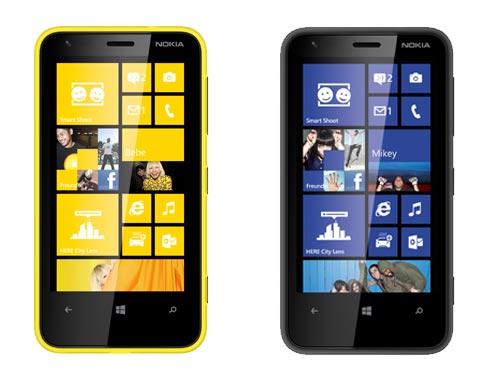 Nokia Lumia 620 (schwarz / gelb) bei yourfone mit / ohne Vertrag