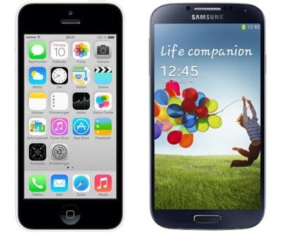 yourfone Black Friday Aktion bis 06.12.2013: iPhone 5C / Galaxy S4